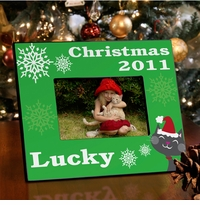 Purr-fect Kitty Christmas Frame GC945kitty
