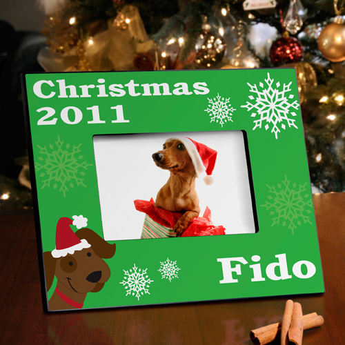 Merry Woof-mas Puppy Picture Frame
