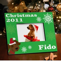 Merry Woof-mas Puppy Picture Frame GC945puppy