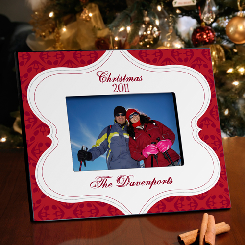 Merry Christmas Tapestry Picture Frame