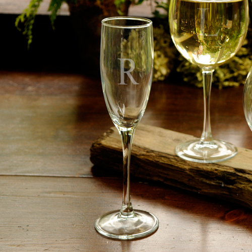 Single Tall Personalized Toasting Glass