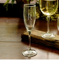 Single Tall Personalized Toasting Glass GC954