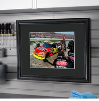 NASCAR Autographed Print With Black Frame GC955
