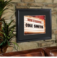 Theater Marquee Personalized Print and Black Frame GC959