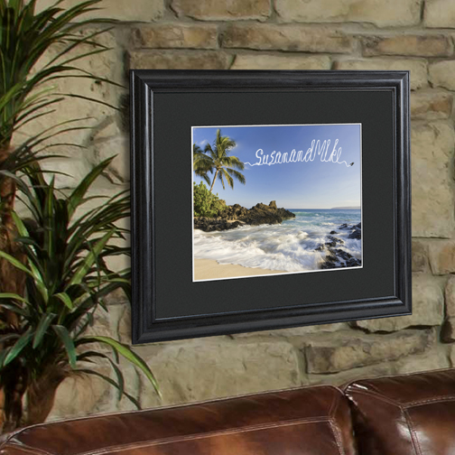 Creative Fresh Air Personalized Print and Black Frame