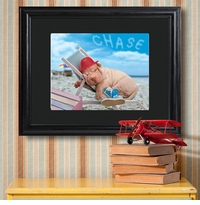 Adorable Pet Creative Message Personalized Print and Black Frame