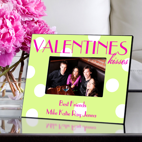 Polka Dot Valentines Kisses Picture Frame GC963polkadotpassion