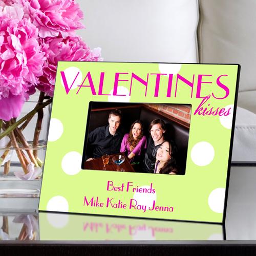 Polka Dot Valentines Kisses Picture Frame