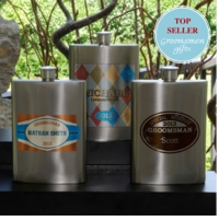 Personalized Groomsman 8oz Gunmetal Flask GC975