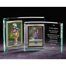 Vertical Glass Crescent Picture Frame GL315BM