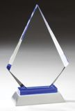 Diamond Glass Award With Gold Silver Base GL58