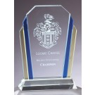 Blue and Gold Accented Glass Award GL63M
