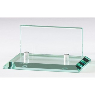 Engraved Glass Business Card Holder GL77