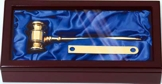 Solid Brass Gavel Set GV100