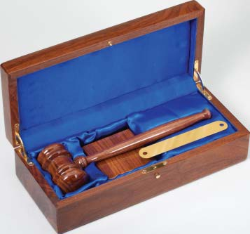 Walnut Finished Gavel Set GV140