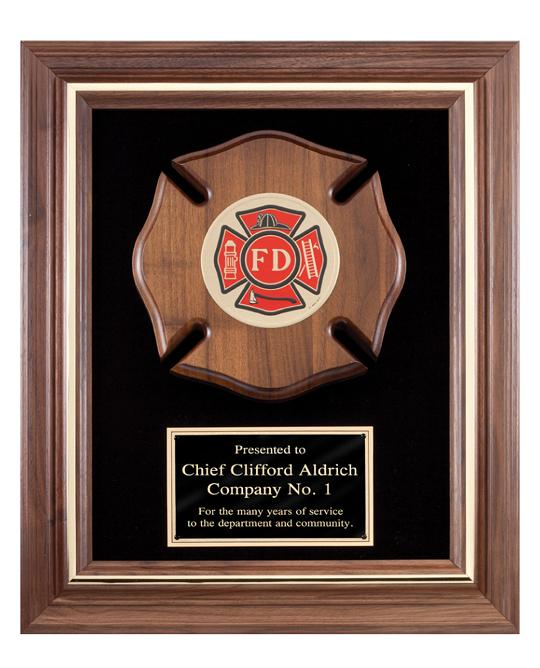 Premium Fireman Plaque With Maltese Cross K2-AT1