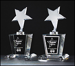 Shooting Star Crystal Trophy K9037