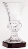 Lead Crystal Vase On Rosewood Base LC42A