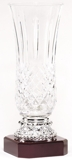 Lead Crystal Vase On Rosewood Base LC45A