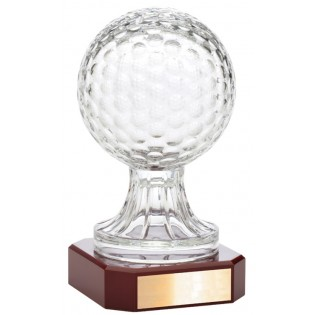Crystal Golf Ball Trophy LC48B