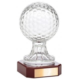 Crystal Golf Ball Trophy