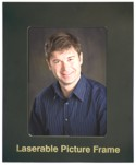 Black Metal Picture Frame, Gold Imprint LMF1810