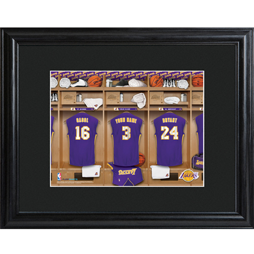 Los Angeles Lakers Locker Room Print Personalize At