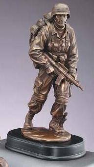 Military Soldier In Action Resin Statue Personalize At