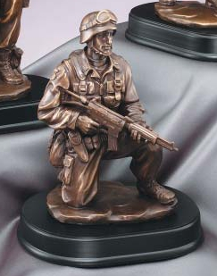 Resin Military Soldier Taking A Knee MIL204