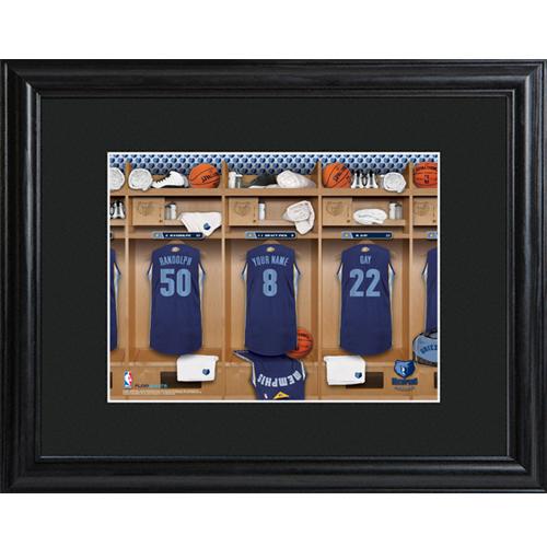 Memphis Grizzlies Locker Room Print Personalize At