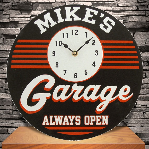 Custom Silk Screened Garage Clock