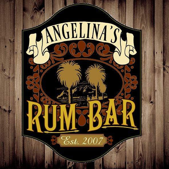Custom Silk Screened Rum Bar Pub Sign