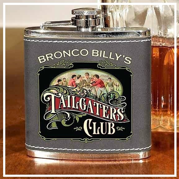Personalized Vintage Tailgaters 6oz Flask OBC-6OZFLSK-B812