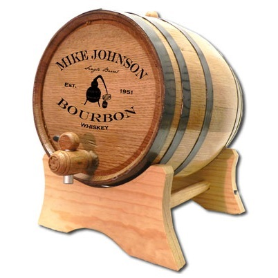 Laser Engraved Moonshine Still Bourbon Barrel OBC-B409