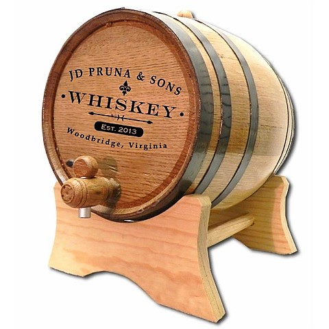 Engraved Iron Cask Mini Whiskey Barrel OBC-B424
