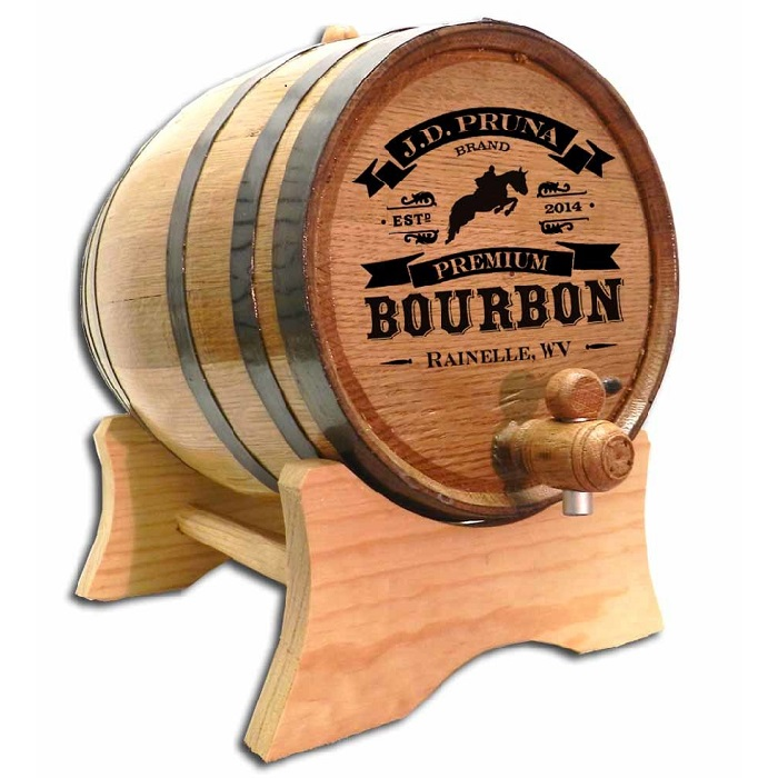 Engraved Kentucky Derby Oak Bourbon Barrel OBC-B446