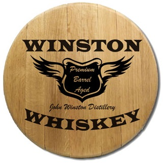 Personalized Spirit Wingsoak Barrel Head Sign OBC-BH-401