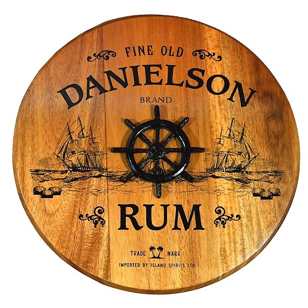Personalized Home Pub Barrel Head Sign OBC-BHR-3D
