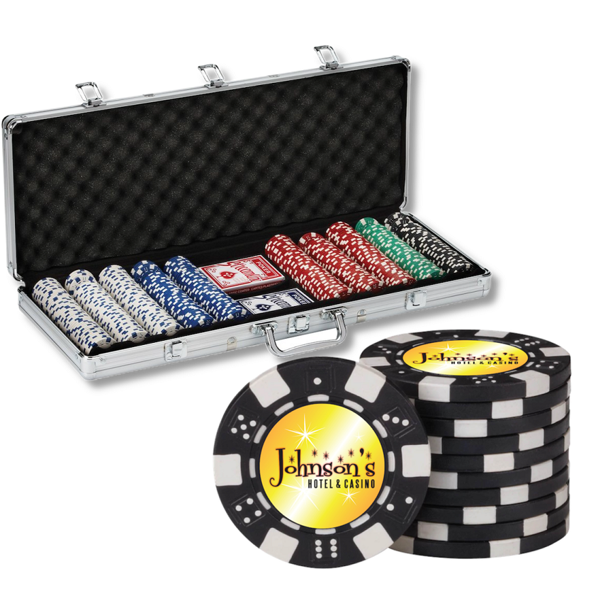 Personalized Gift of the Month - Personalized Poker 500 Chip Pro Set