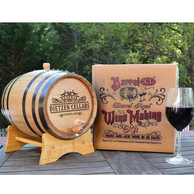 Personalized Barrel Aged Cabernet Wine Making Kit OBC-PER-BRLXL