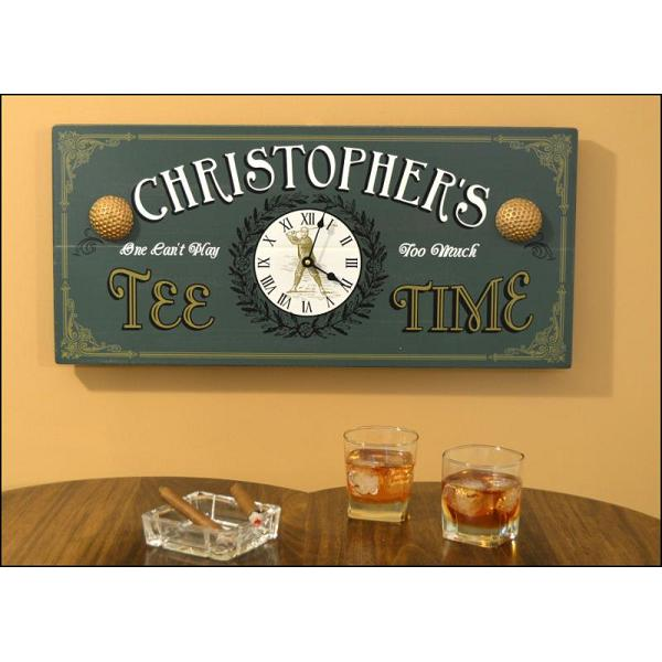 Custom Vintage Plank Sign Clock