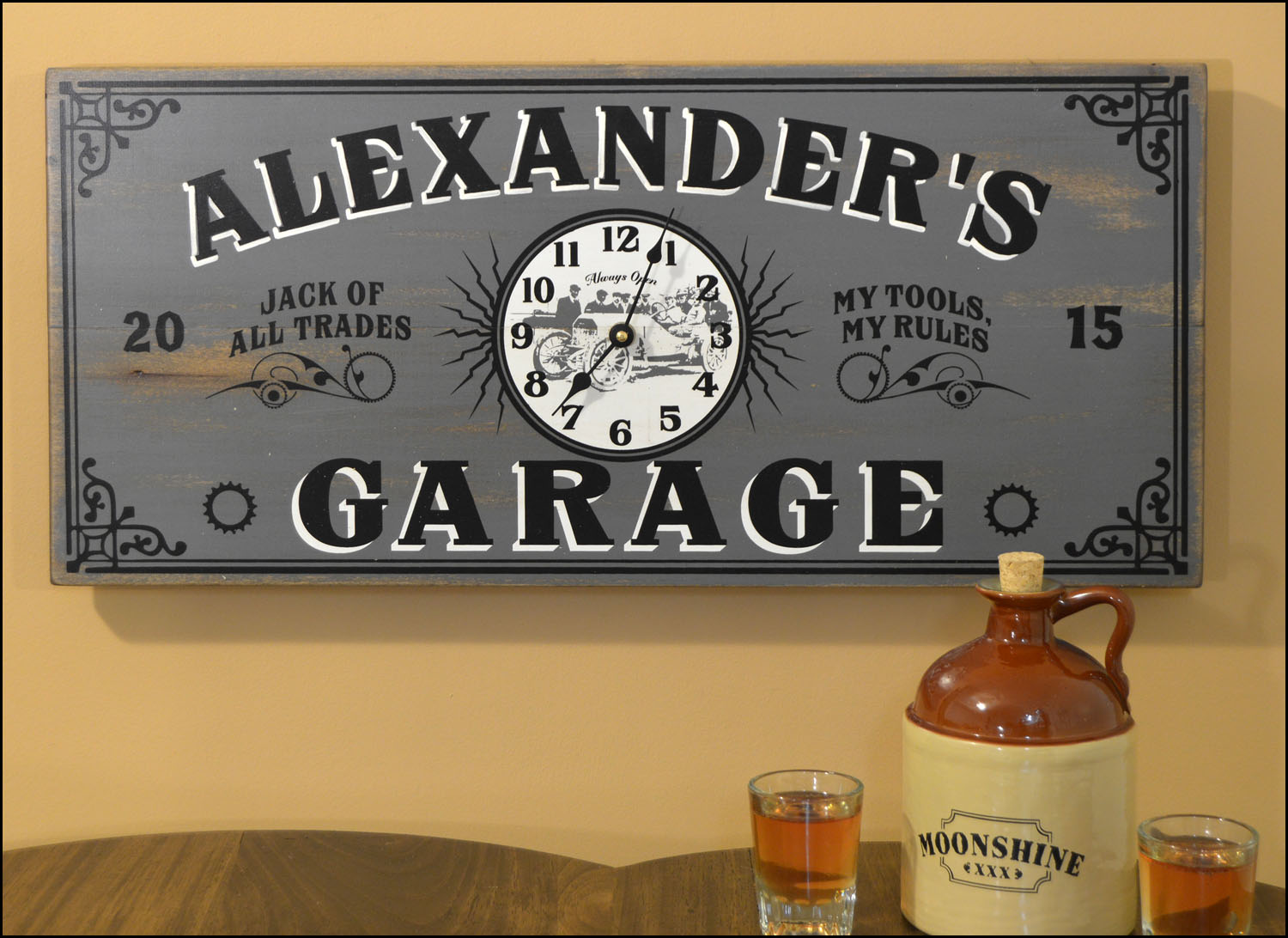 for garage signs personalized pin sign pinterest home
