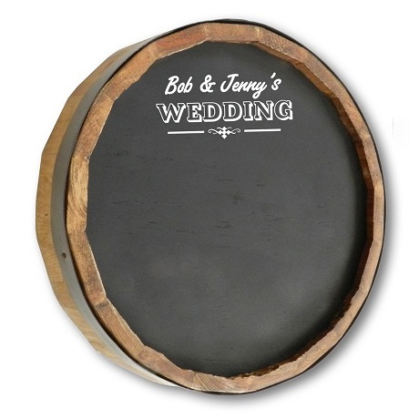 Personalized Quarter Barrel Chalkboard Sign OBC-QB-CHALK