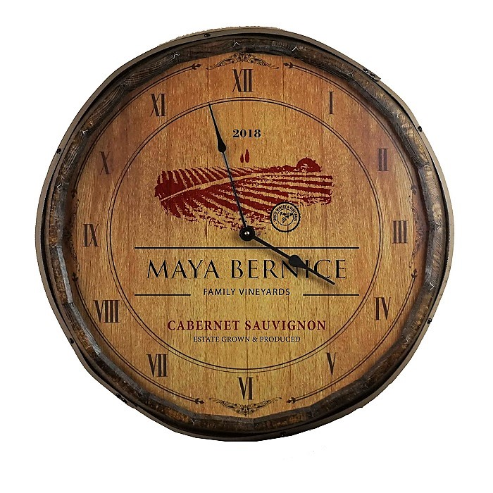 Personalized Vineyards Quarter Barrel Clock OBC-QB-CLOCK-B361