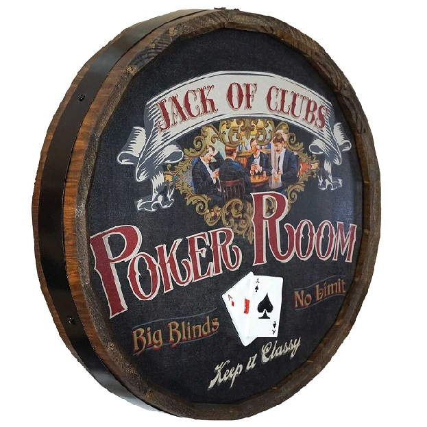 Personalized Poker Room Quarter Barrel Sign OBC-QB1804