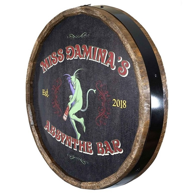 Personalized Absynthe Quarter Barrel Sign OBC-QB1809