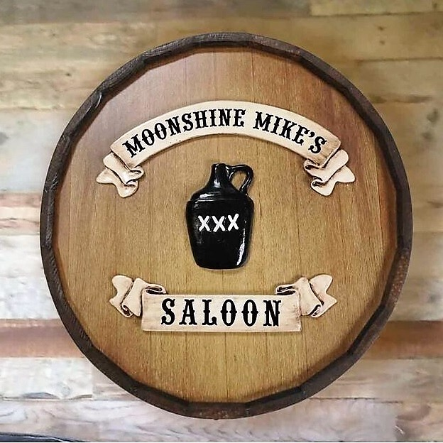 Personalized Quarter Barrel Moonshine Saloon Sign OBC-QBBR121