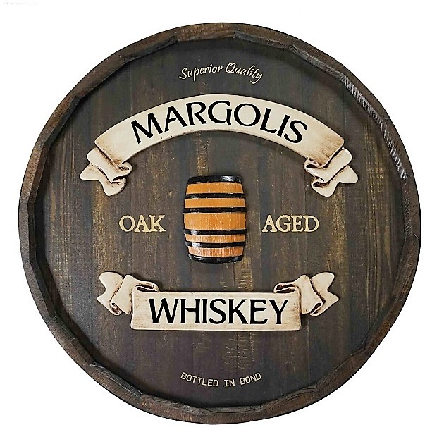 Personalized Quarter Barrel Aged Whiskey Sign OBC-QBBR201