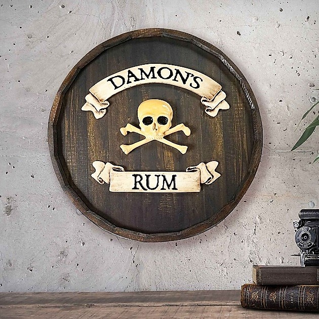 Personalized Quarter Barrel Rum Skull Sign OBC-QBBR203