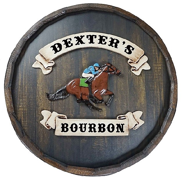 Personalized Quarter Barrel Horse Derby Sign OBC-QBBR495